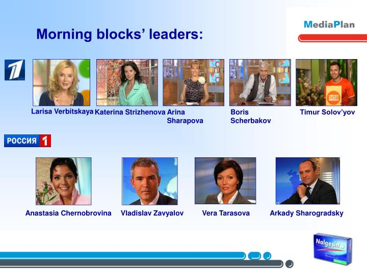 Morning blocks' leaders: