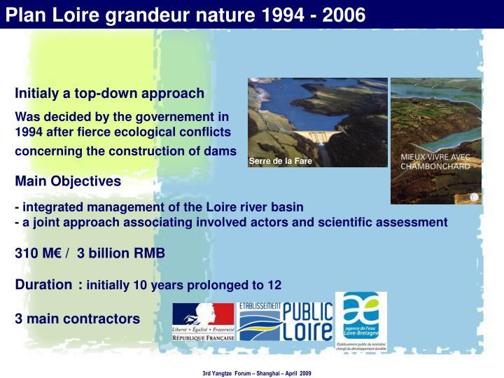 Plan Loire grandeur nature1994 - 2006