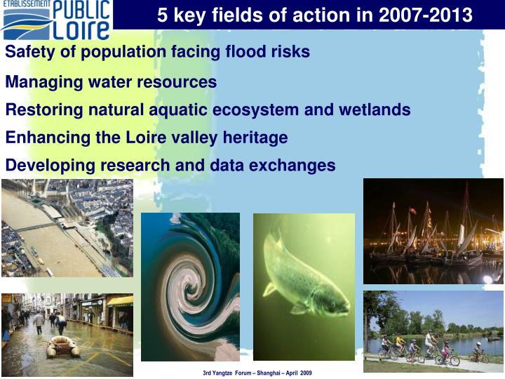 5 key fields of action in 2007-2013