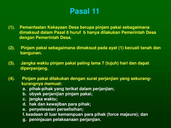 Pasal 11