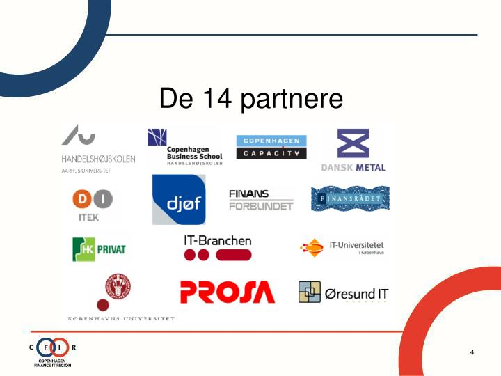 De 14 partnere