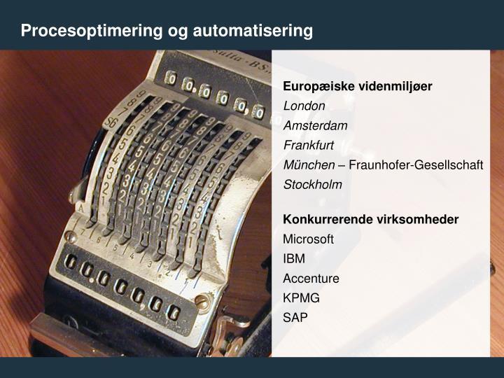 Procesoptimering og automatisering