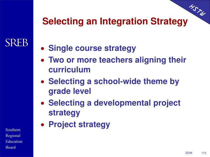 Selecting an Integration Strategy