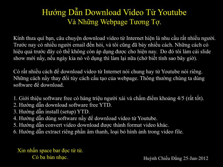 Hng Dn Download Video T Youtube