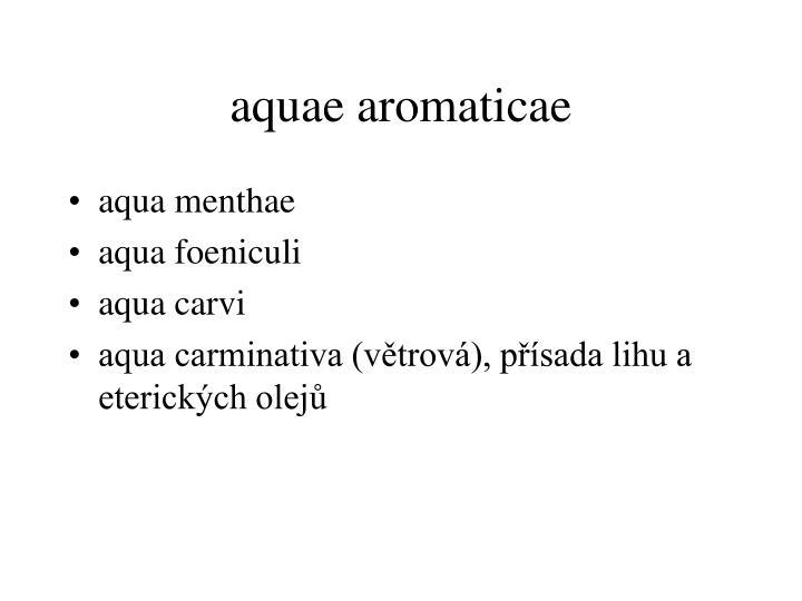 aquae aromaticae