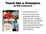 teach like a champion an nta framework