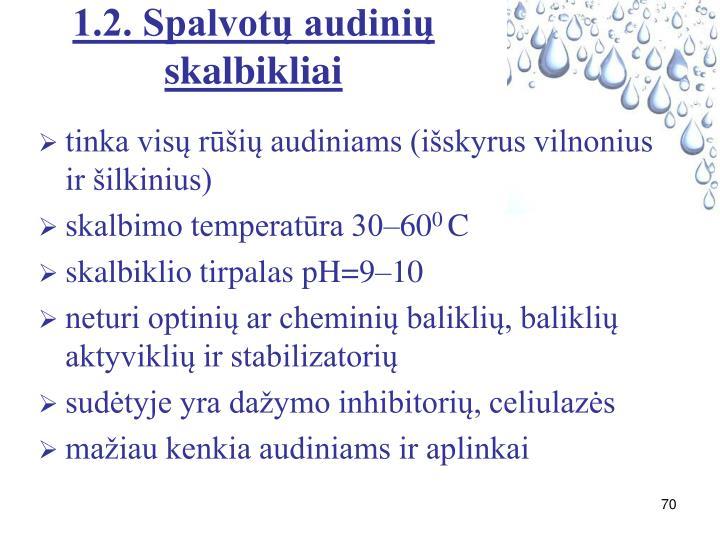1.2. Spalvotų audinių skalbikliai