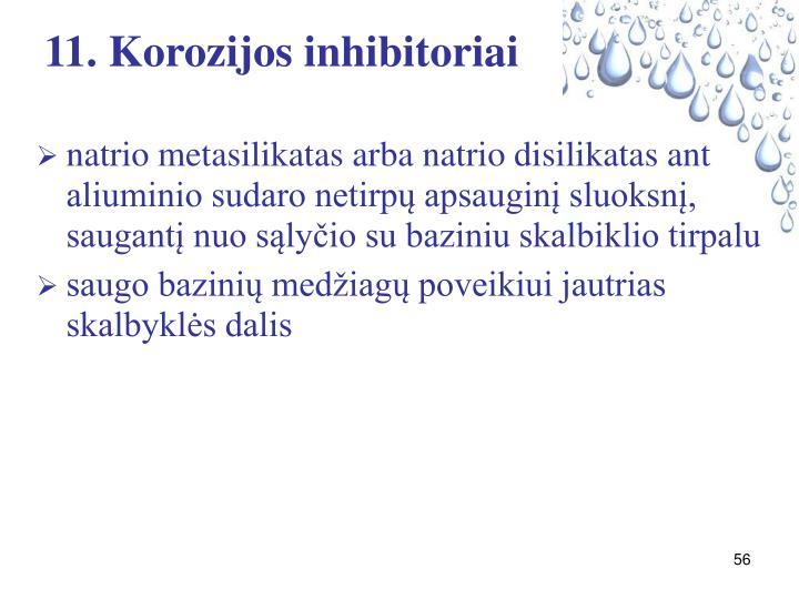 11. Korozijos inhibitoriai