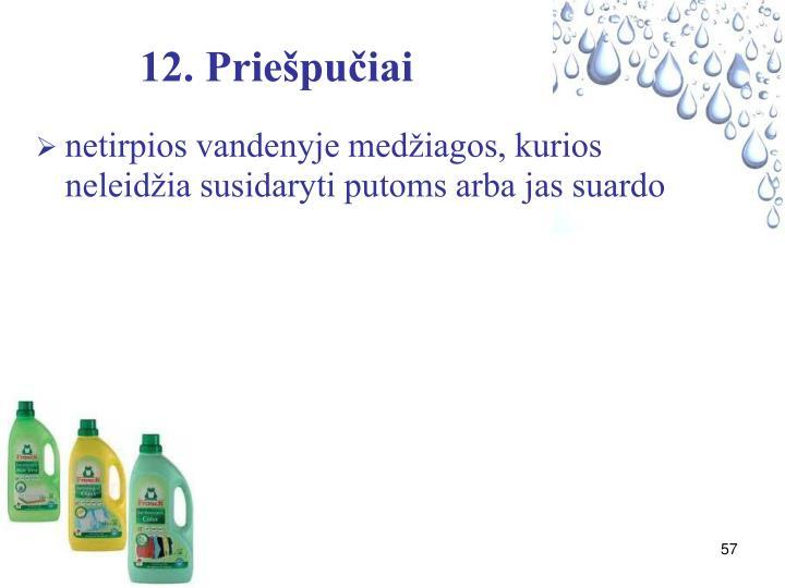 12. Priešpučiai