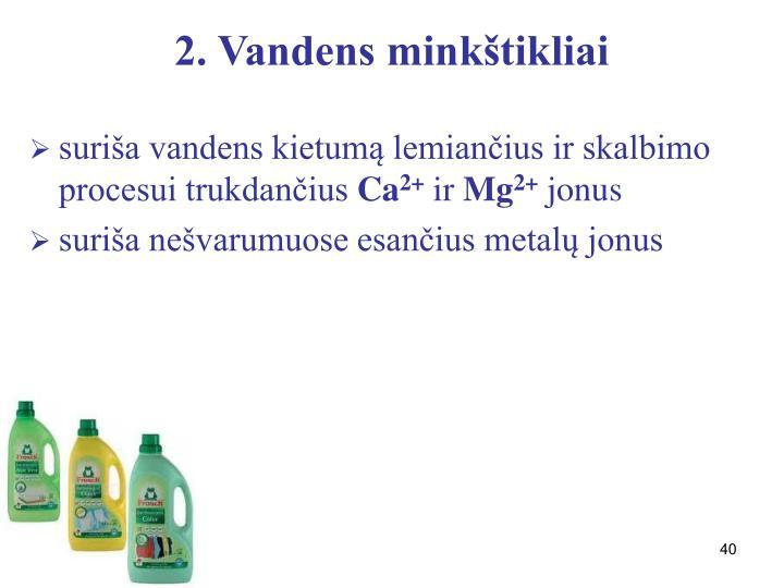 2. Vandens minkštikliai