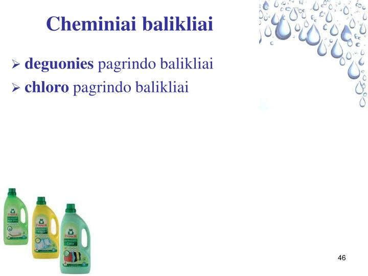 Cheminiai balikliai