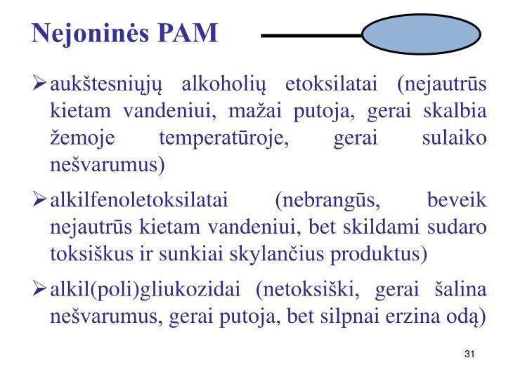 Nejoninės PAM