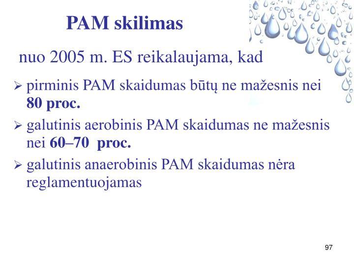 PAM skilimas