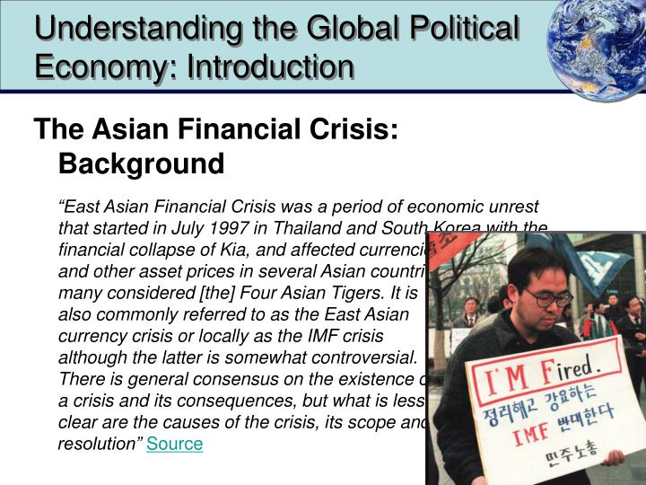 Understanding the Global Political Economy: Introduction