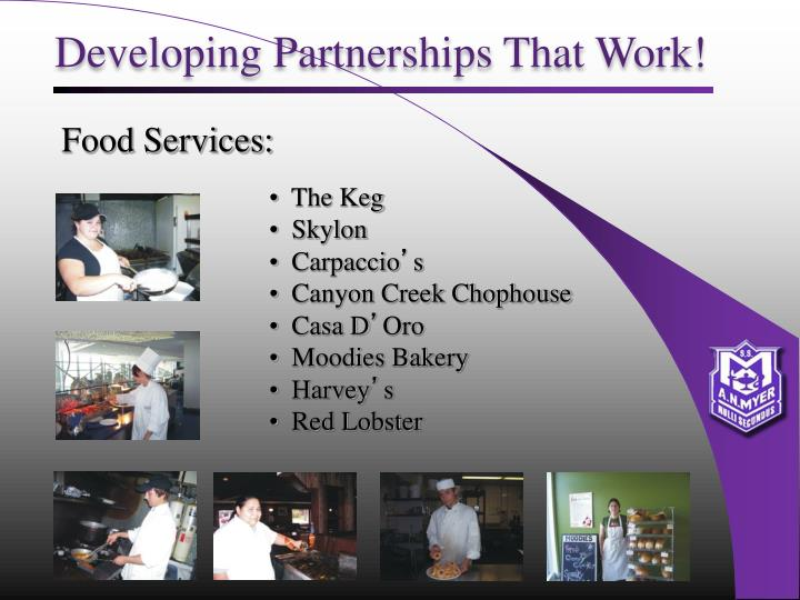 Developing Partnerships That Work!