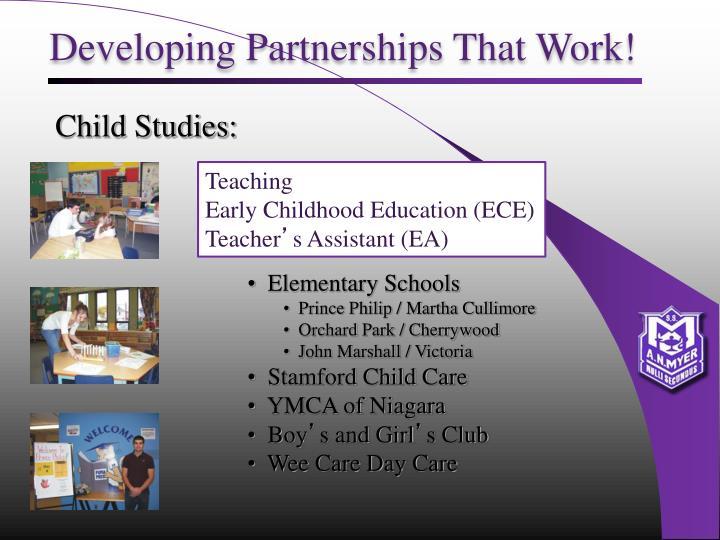 Developing Partnerships That Work!