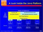 a look inside the java platform