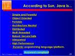 according to sun java is