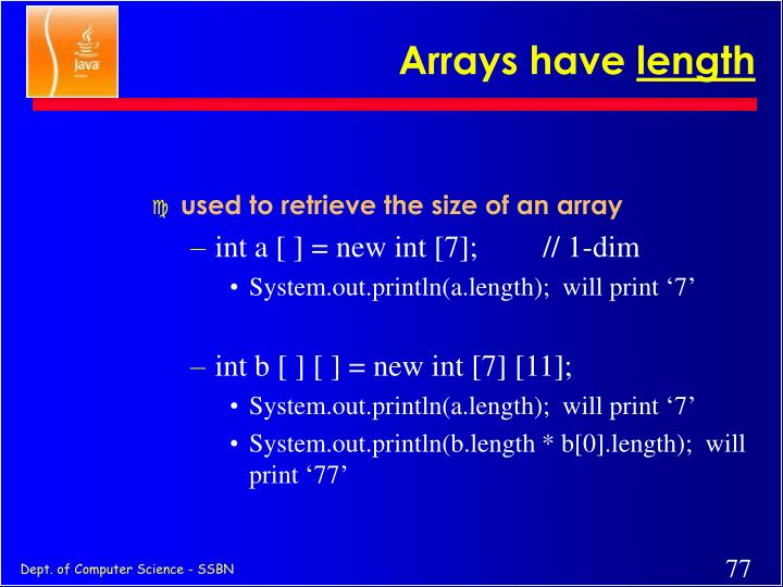 Arrays have