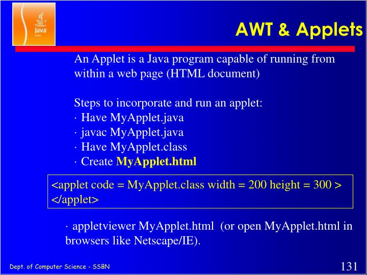 AWT & Applets