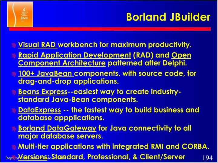 Borland JBuilder