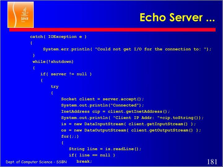 Echo Server ...