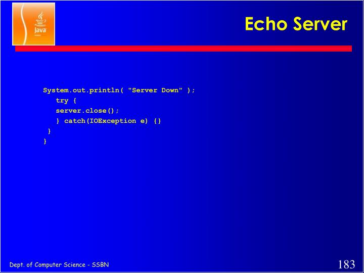 Echo Server