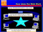how does the web work1