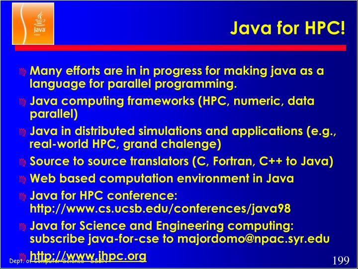 Java for HPC!