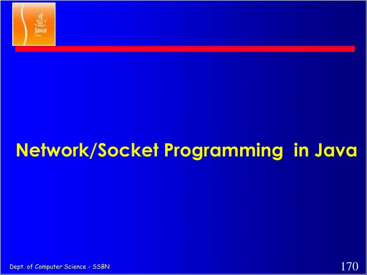 Network/Socket Programming  in Java