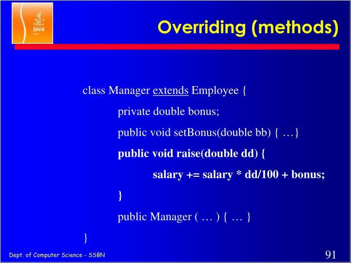 Overriding (methods)