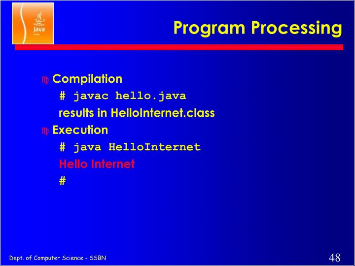 Program Processing