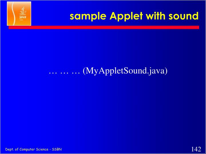 sample Applet with sound