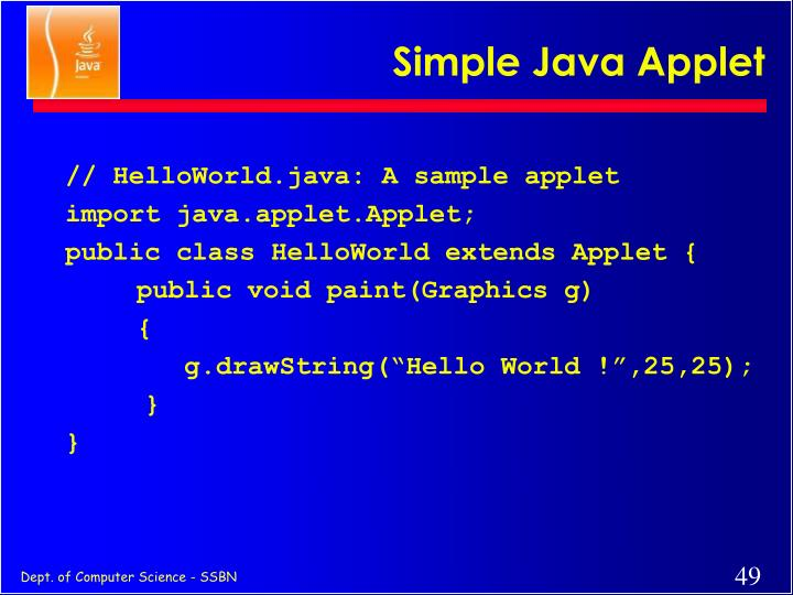 Simple Java Applet