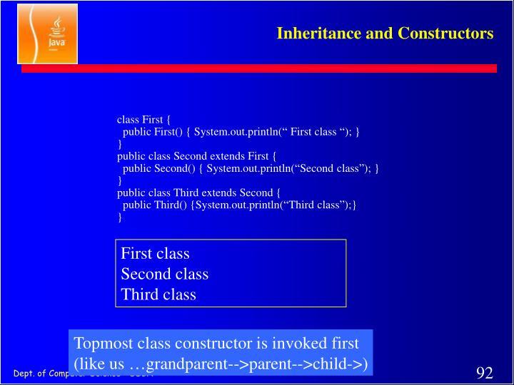 class First {