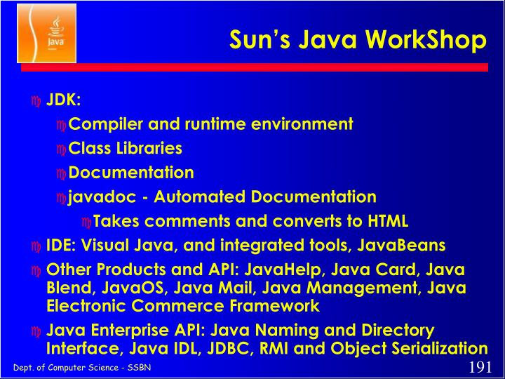 Sun's Java WorkShop