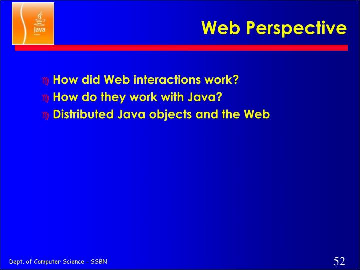 Web Perspective