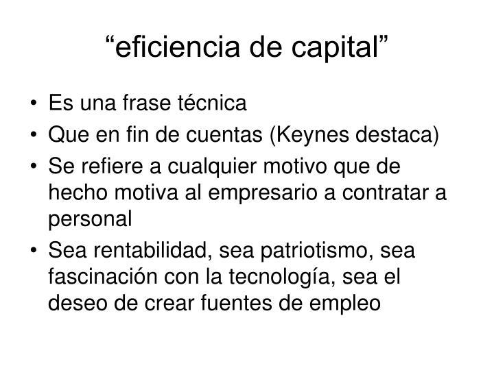 """""""eficiencia de capital"""""""