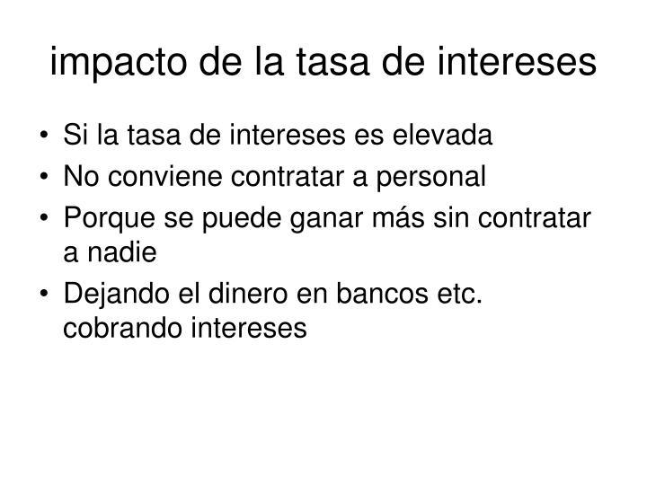 impacto de la tasa de intereses