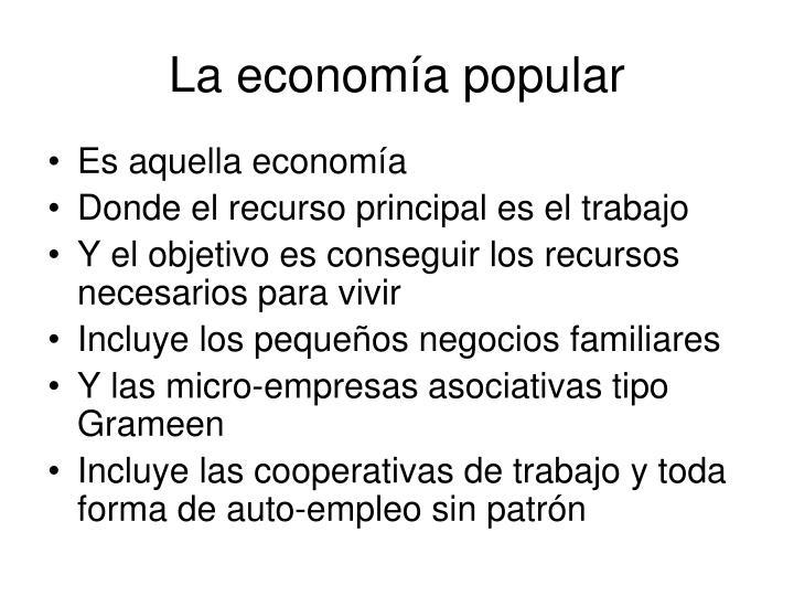La economía popular