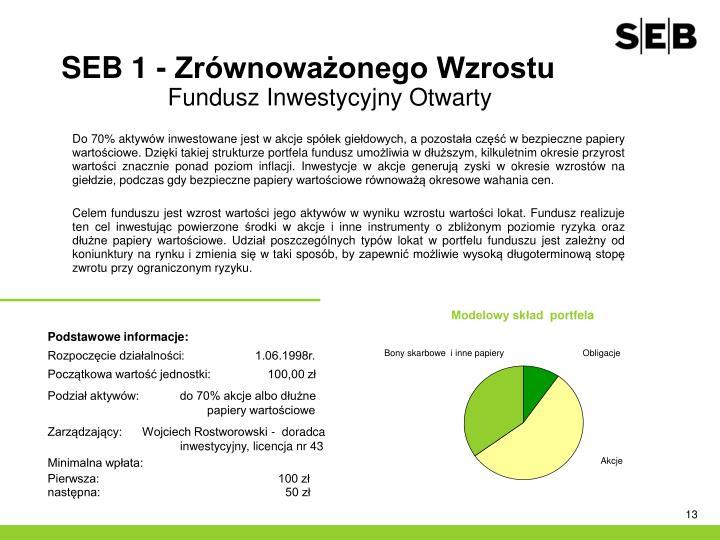SEB 1 - Zrównoważonego Wzrostu