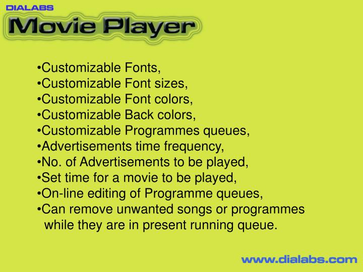 Customizable Fonts,