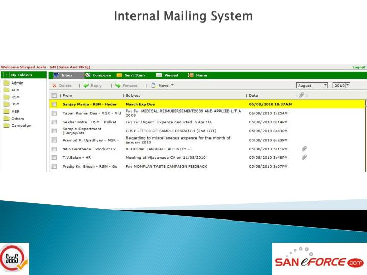 Internal Mailing System