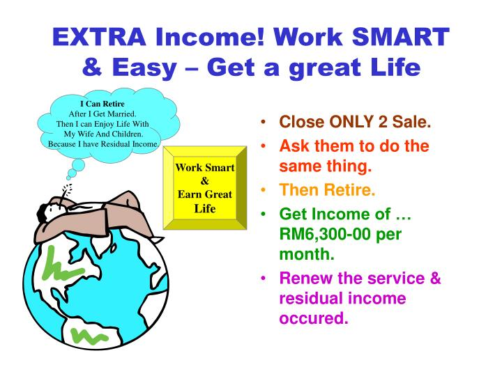 EXTRA Income! Work SMART & Easy – Get a great Life