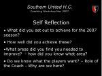 southern united h c coaching workshop nov 200712