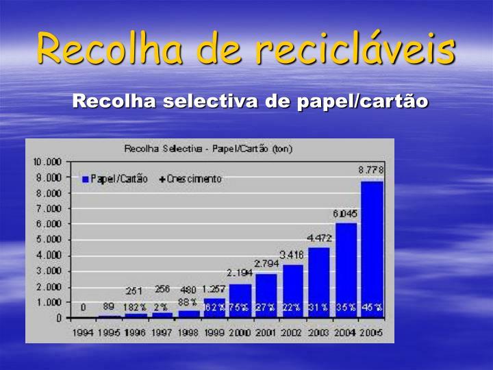 Recolha de recicláveis