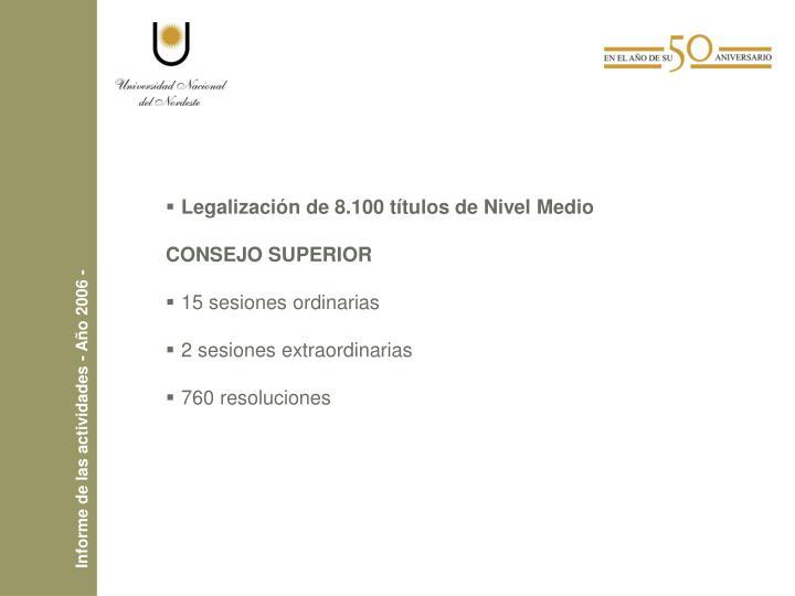 Informe de las actividades - Año 2006 -