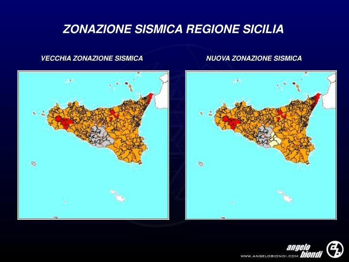 ZONAZIONE SISMICA REGIONE SICILIA