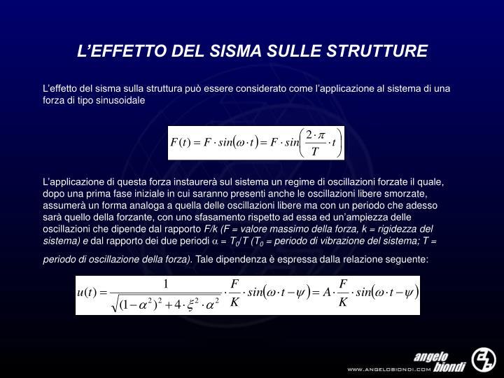 L'EFFETTO DEL SISMA SULLE STRUTTURE