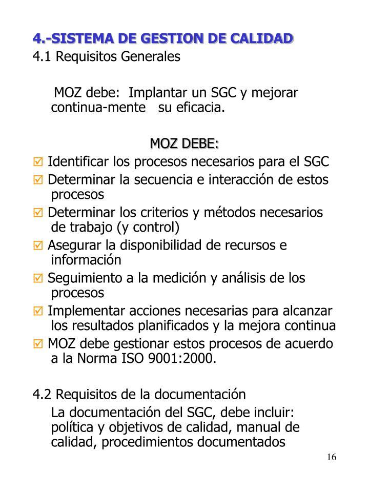 4.-SISTEMA DE GESTION DE CALIDAD